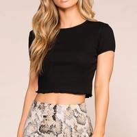 Monica Black Crop Top