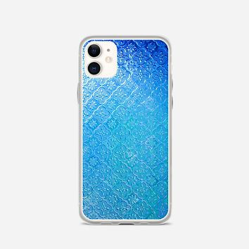 Glass On A Pattern Blue iPhone 11 Case