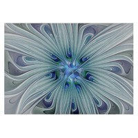 Floral Beauty Abstract Modern Blue Pastel Flower Cutting Board