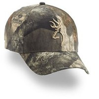 Browning (BRN308479181) Mossy Oak Treestand Cap with 3-D Buckmark, Camo Color
