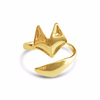 Adjustable Fox Ring - Gold, Rose Gold and Silver