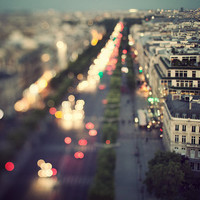Midnight in Paris - Paris Photography, Romantic, Cityscape, View, Whimsical Travel Photography, Dreamy Streets