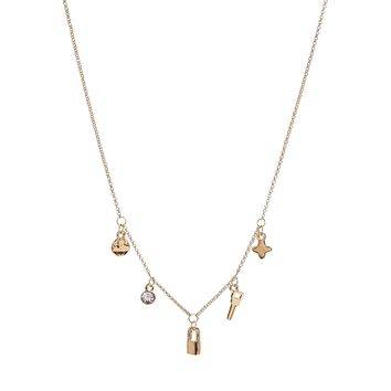 Johnny Loves Rosie Charm Necklace