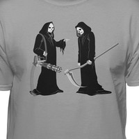 Grim Reaper Dual Battle Fashion T-shirt