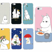 Cute Cartoon Hippo Hippopotamus Moomin Lover Soft Phone Case Coque Fundas For iPhone 7 7Plus 6 6S 6Plus 5 5S SE 5C SAMSUNG