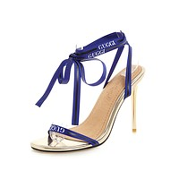 Women's High Heel Thin Heel Cross Strap Stiletto Heel Sandals