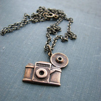 camera necklace gold by friendlygesture on Etsy