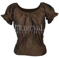 Ruffled Sleeve Satin Top - JD-0013 by Medieval Collectibles