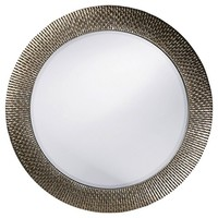 Round Bergman Decorative Wall Mirror Dark Silver - Howard Elliott