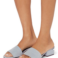 Alexander Wang Lou Denim Slide Sandals - INTERMIX®