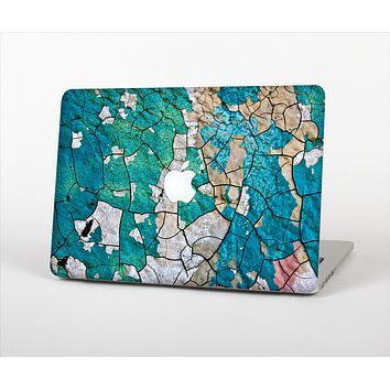 The Cracked Multicolored Paint Skin Set for the Apple MacBook Air 11""