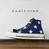 Kuyou Fa19630 Brain Dead Joint X Kuang Wei Converse 1970s High Top Canvas Shoes
