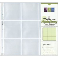 "We R Memory Keepers Photo Sleeve Protectors, 12"" x 12"", 9 (4x4"") Pockets, 10/pkg - Walmart.com"