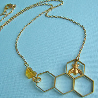 I'll Have A Bee Please, Bob! Honeycomb Necklace | Eclectic Eccentricity Vintage Jewellery
