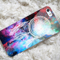 bring me the horizon dream catcher in galaxy design for iPhone 4/4s/5/5s/5c, Samsung Galaxy S3/S4 Case