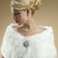 Faux Fur Wraps Evening Shawls Stole Shrug Winter Wedding Mariell 116W
