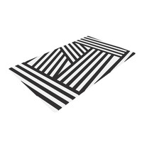 "Louise Machado ""Black Stripes"" Woven Area Rug"