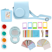 7 in 1 Instant Film Camera Accessories Bundles for Fujifilm Instax Mini 8 ( Case/ Sticker/ Album/ Frames/ Lens/ Filters/ Strap