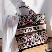 Dior New fashion letter floral print shoulder bag handbag