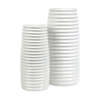 Daley Ribbed Vases - Set of 2