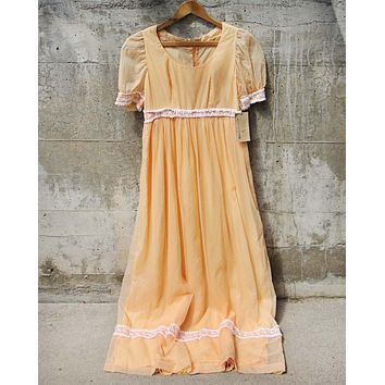 Vintage Swiss Peach Dress