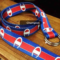 Champion new fashion print belt women and men