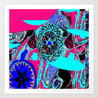 Step by step Art Print by Florencia Mittelbach Marenco