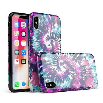 Spiral Tie Dye V3 - iPhone X Swappable Hybrid Case