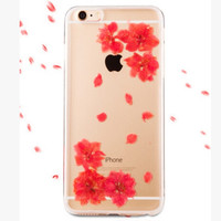 Pressed and Dried Flower Transparent Phone Case