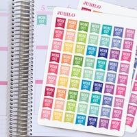 Planner Stickers Workout Flags