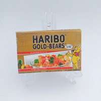 Haribo Gummi Bears Novelty Gold Womens Wallet, Cool White Elephant Gift, Upcycled Recycled Candy Box Clutch Wallet, Ladies Cell Phone Holder