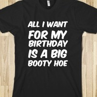 ALL I WANT FOR MY BIRTHDAY