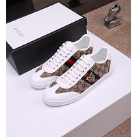 Gucci Men's Leather Fashion Sneakers Shoes #595
