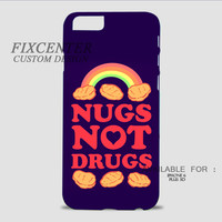 Blue Nugs Not Drugs Chicken Nugget 3D Image Cases for iPhone, iPod, Samsung Galaxy by FixCenters