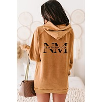 """""""NM Clothing Co."""" Mineral Wash Double-Sided Graphic Hoodie (Vintage Camel) - Print On Demand"""