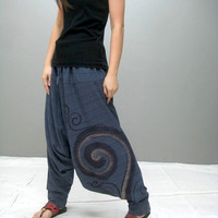 SWIRL Harem pant (blue-new fabric)