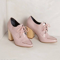 NIB Anthropologie Tipo Lace-Up Heels  By Pied Juste Sz 38