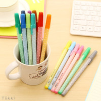 12 PCS Cute & Lovely Shining Candy Color Ballpoint Pen Stationery Kid Gift 0.5mm = 1958768772