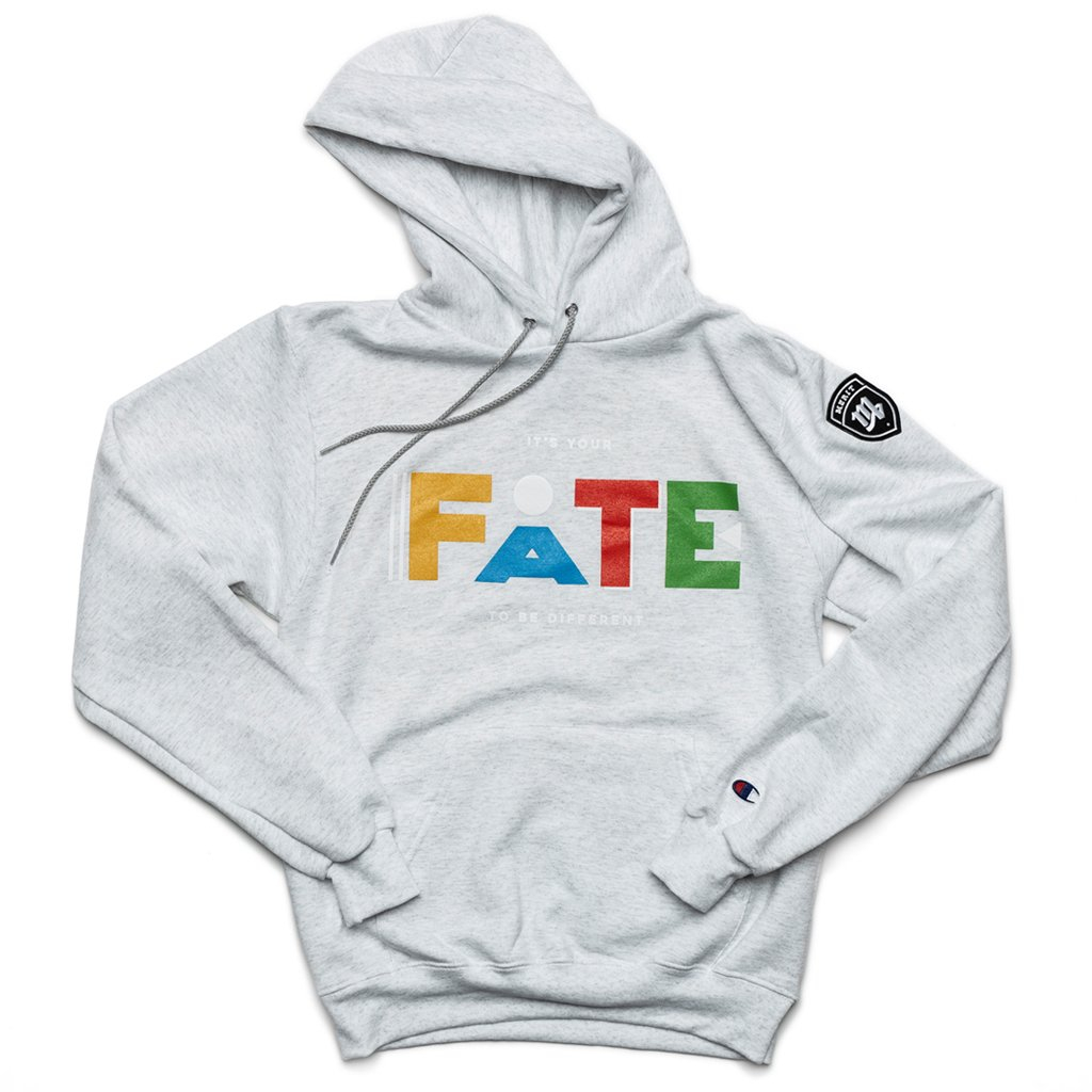 """Image of It's Your FATE to be Different """"Martin"""" Hoodie - Gray"""