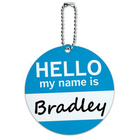 Bradley Hello My Name Is Round ID Card Luggage Tag