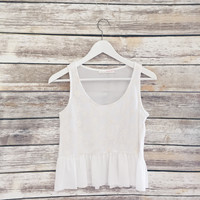 River Lace Baby Doll Tank (White)