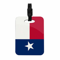 """Bruce Stanfield """"Texas Flag"""" Red Blue Decorative Luggage Tag"""