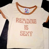 SWEET LORD O'MIGHTY! READING IS SEXY RINGER TEE
