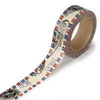 DARICE 1217-144 Washi Tape Roll, 5/8 by 315-Inch, Air Mail Design