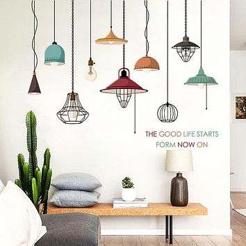 Chandeliers Removable Wall Sticker PVC Living Room