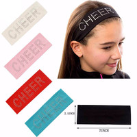 10pcs Lot CHEER Rhinestone Studded Stretch Headband {Swag Gear} Competition Makeup Hair Holder