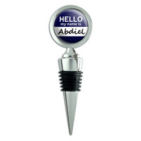 Abdiel Hello My Name Is Wine Bottle Stopper