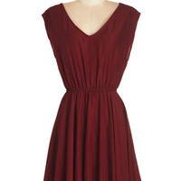 Kling Mid-length Sleeveless A-line Compliments Abound Dress