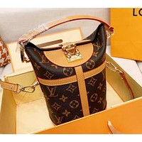 LV Louis Vuitton Hot Sale Women Shopping Bag Leather Bucket Bag Handbag Crossbody Satchel Shoulder Bag