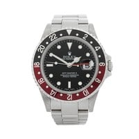 ROLEX GMT-MASTER II COKE STAINLESS STEEL WATCH 16710 W4831